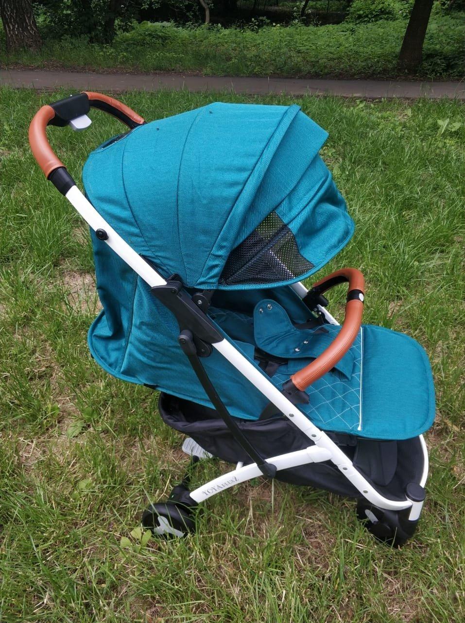 детская коляска yoya plus 2 2018 цвет изумрудная зеленая бирюзовая