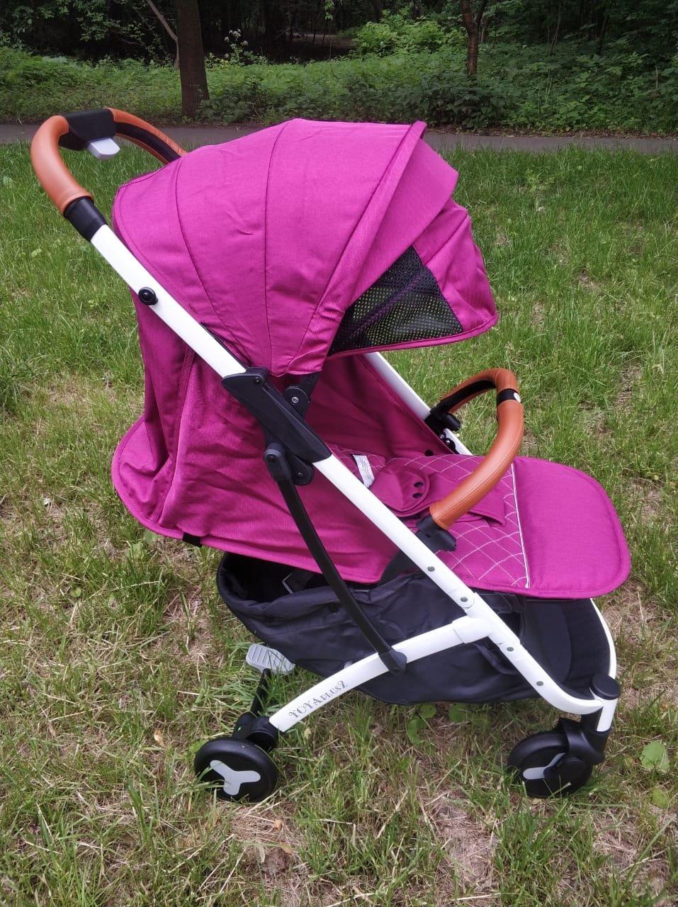 детская коляска yoya plus 2 2018 цвет фиолетовый фуксия