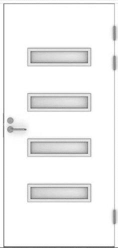Входная финская дверь JELD-WEN F2090 W53 белая