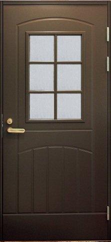 Входная финская дверь JELD-WEN F2000 W71 коричневая