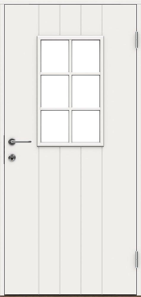 Входная финская дверь JELD-WEN Basic 0015 белая