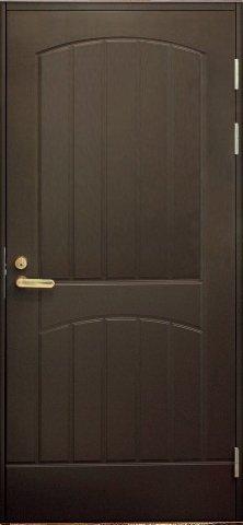 Входная финская дверь JELD-WEN F2000 коричневая