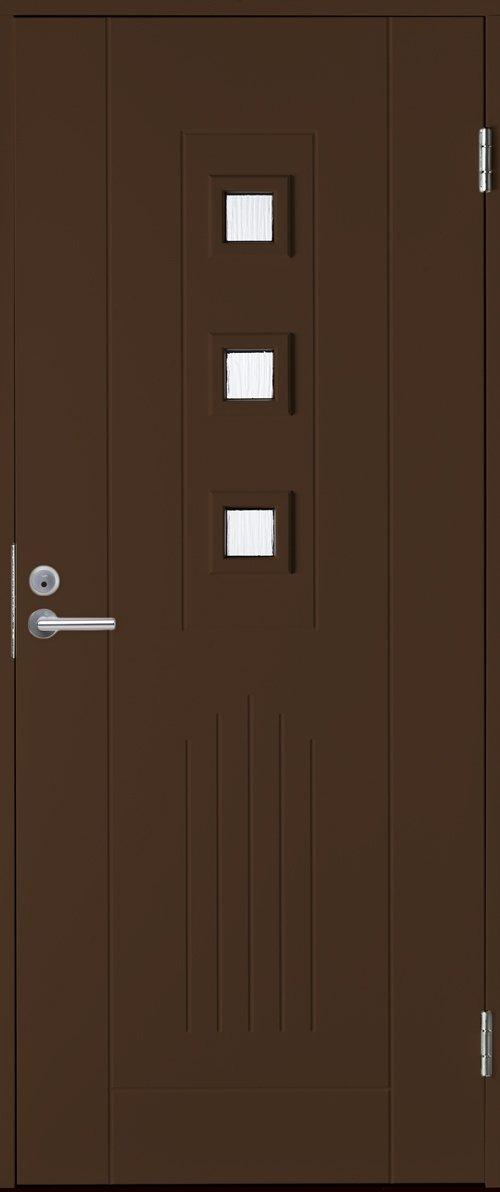 Входная финская дверь JELD-WEN Basic 0060 коричневая