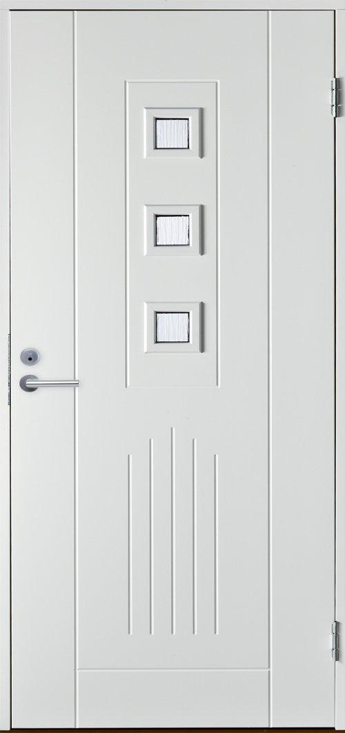 Входная финская дверь JELD-WEN Basic 0060 белая.