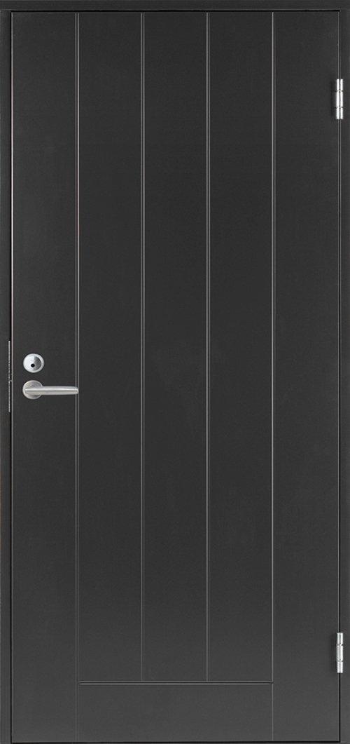 Входная финская дверь JELD-WEN Basic 0010 темно-серая